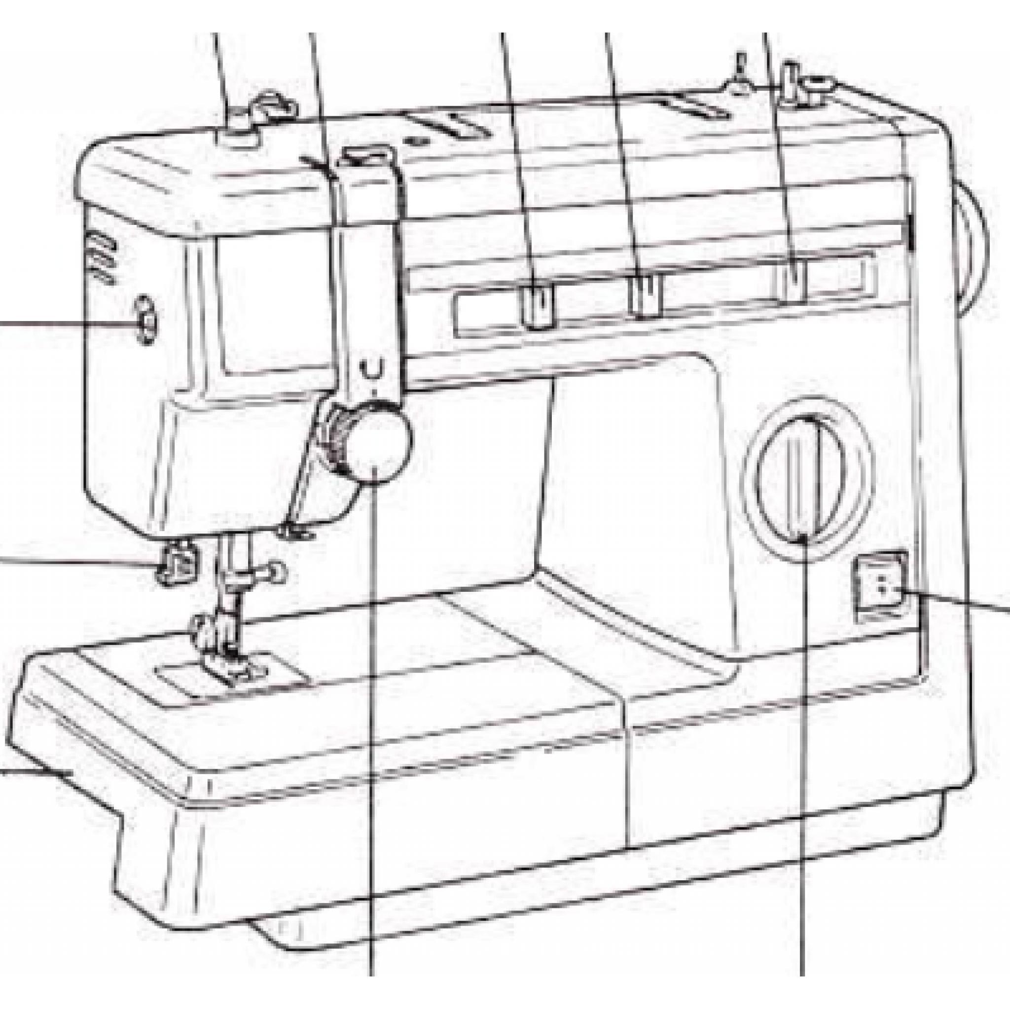 JONES BROTHER Model VX2080 & VX2083 Sewing Machine