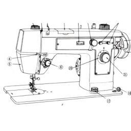 JONES BROTHER Model 171 Sewing Machine Instruction Manual