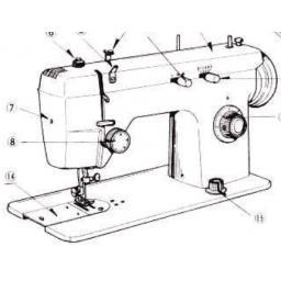JONES BROTHER Model 674 Sewing Machine Instruction Manual