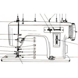 JONES BROTHER 1681 Zigzag Sewing Machine Instruction