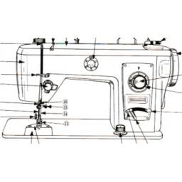 JONES BROTHER Model 881 Sewing Machine Instruction Manual