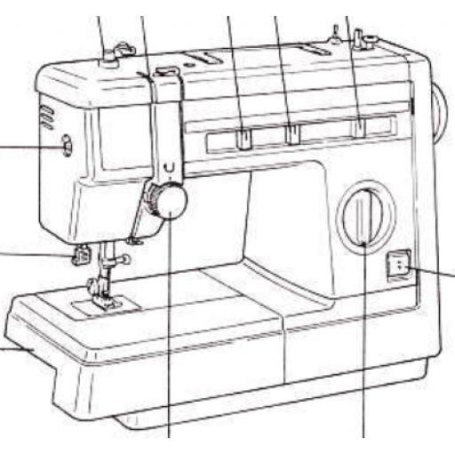 JONES BROTHER Model VX890 Sewing Machine Instruction