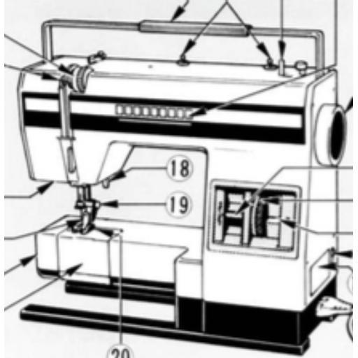 ELNA Primula Model 1000 Instruction Model (Printed)