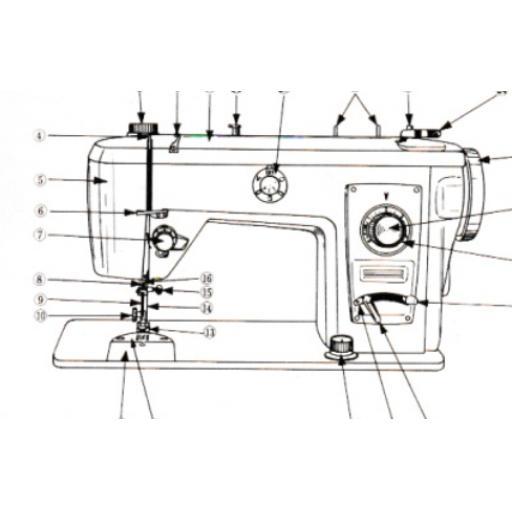 JONES BROTHER Model 881 Sewing Machine Instruction Manual