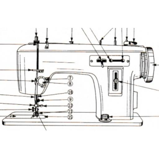 JONES BROTHER 1681 Zigzag Sewing Machine Instruction