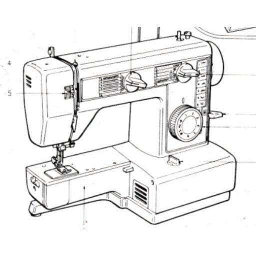 JONES or BROTHER Model VX560 Sewing Machine Instruction