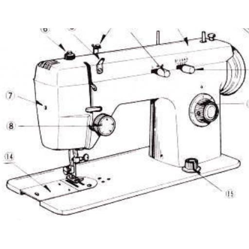 JONES BROTHER Model 674 Sewing Machine Instruction Manual