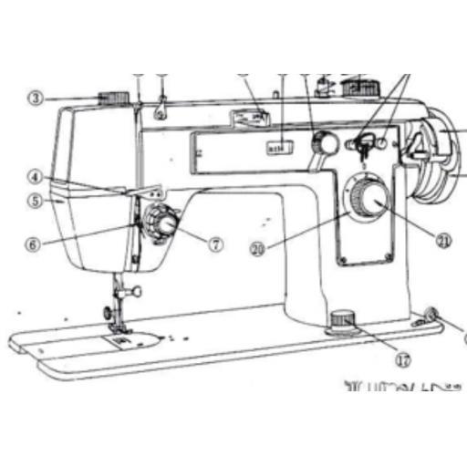 JONES Model 938 Sewing Machine Instruction Manual (Printed)