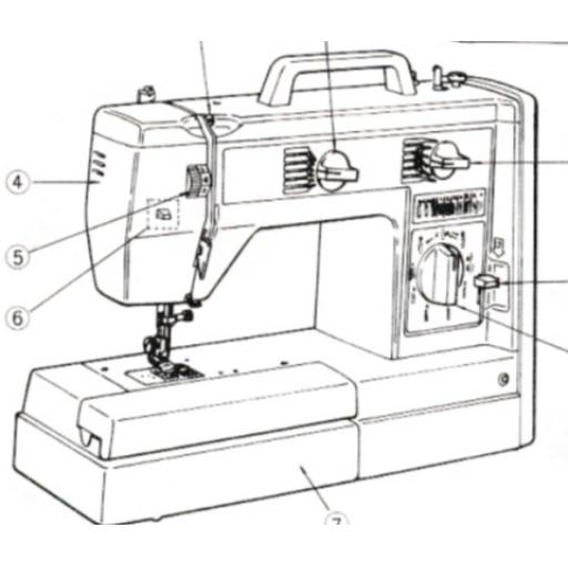 JONES BROTHER Model VX760, VX757 & VX770 Sewing Machine