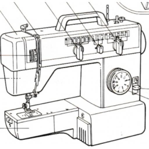 JONES BROTHER Model VX561 Sewing Machine Instruction