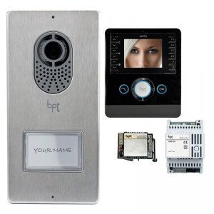 BPT - 1 Way Video Kit with Lithos Panel and Perla Monitor
