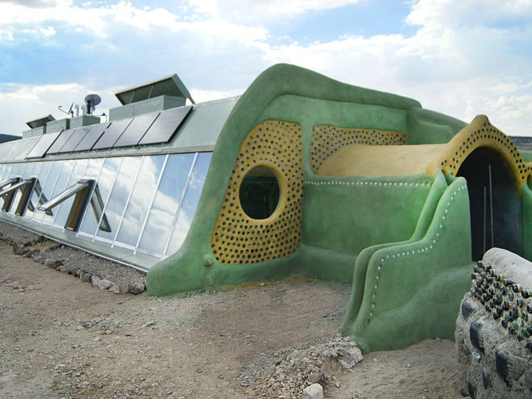 A Massachusetts Garage made from easily accessible materials: Tires and Dirt