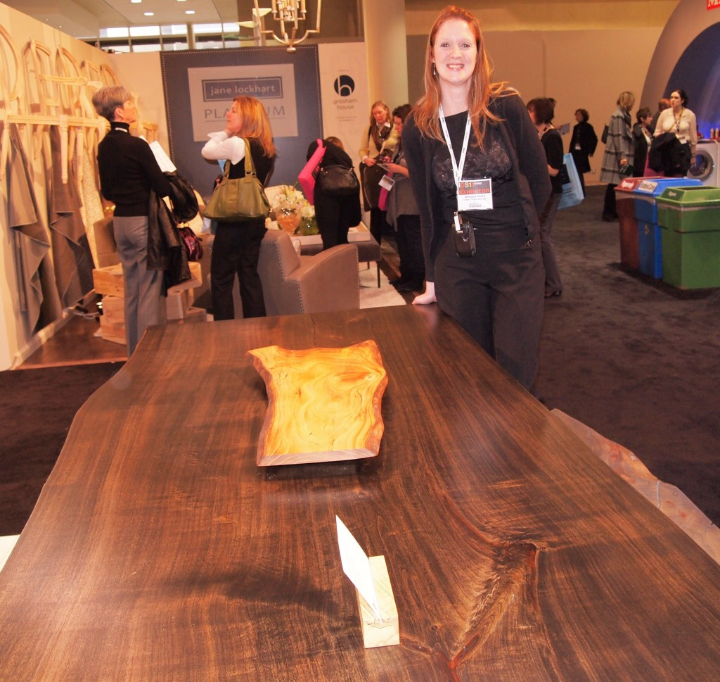Ebony stained Poplar table by Urban Tree Salvage