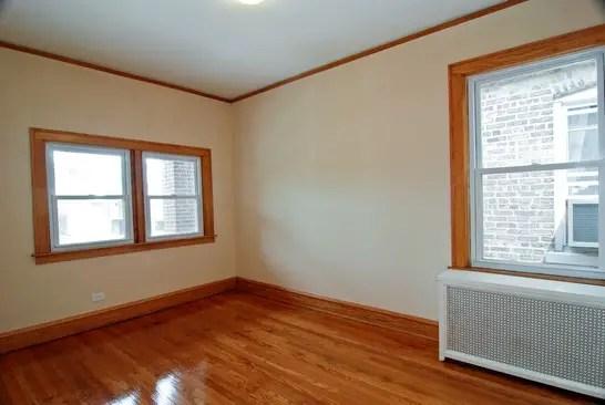 Master bedroom, post renovation, affordable green home, Chicago