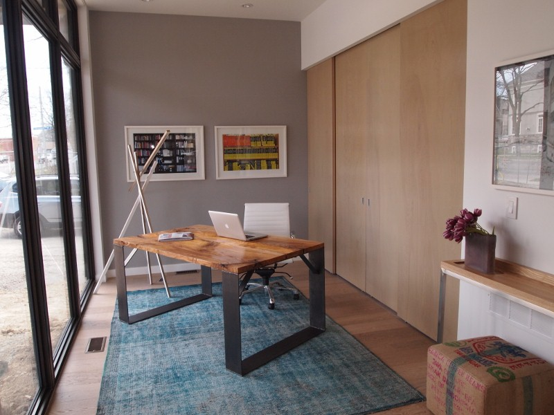 Home office in modular home