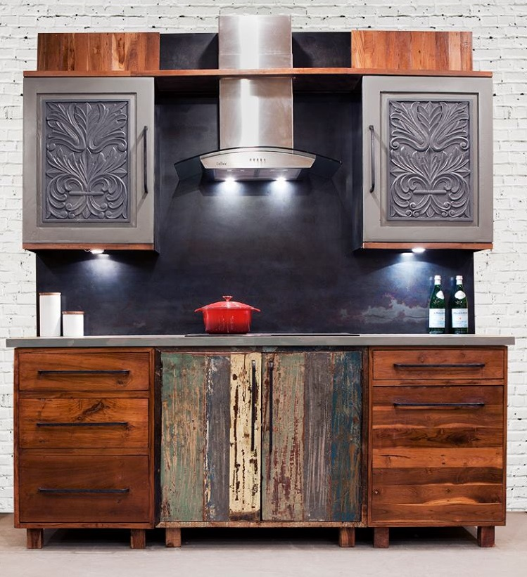 Kitchen Cabinets from Reclaimed Wood By IndeArt Design