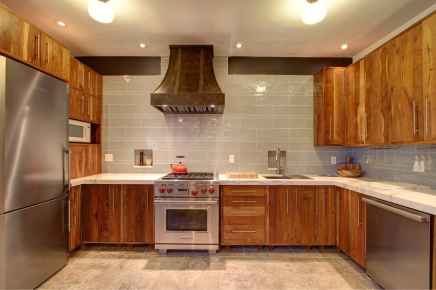 Kitchen Cabinets from Reclaimed Wood By Inde-Art Design House