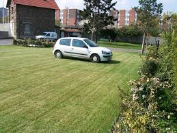 Ecoraster grass covered parking lot