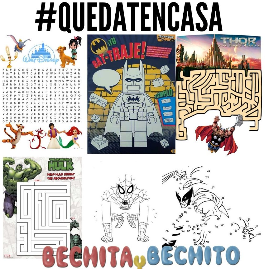 laberintos sopas de letras de dc comics marvel comics y disney