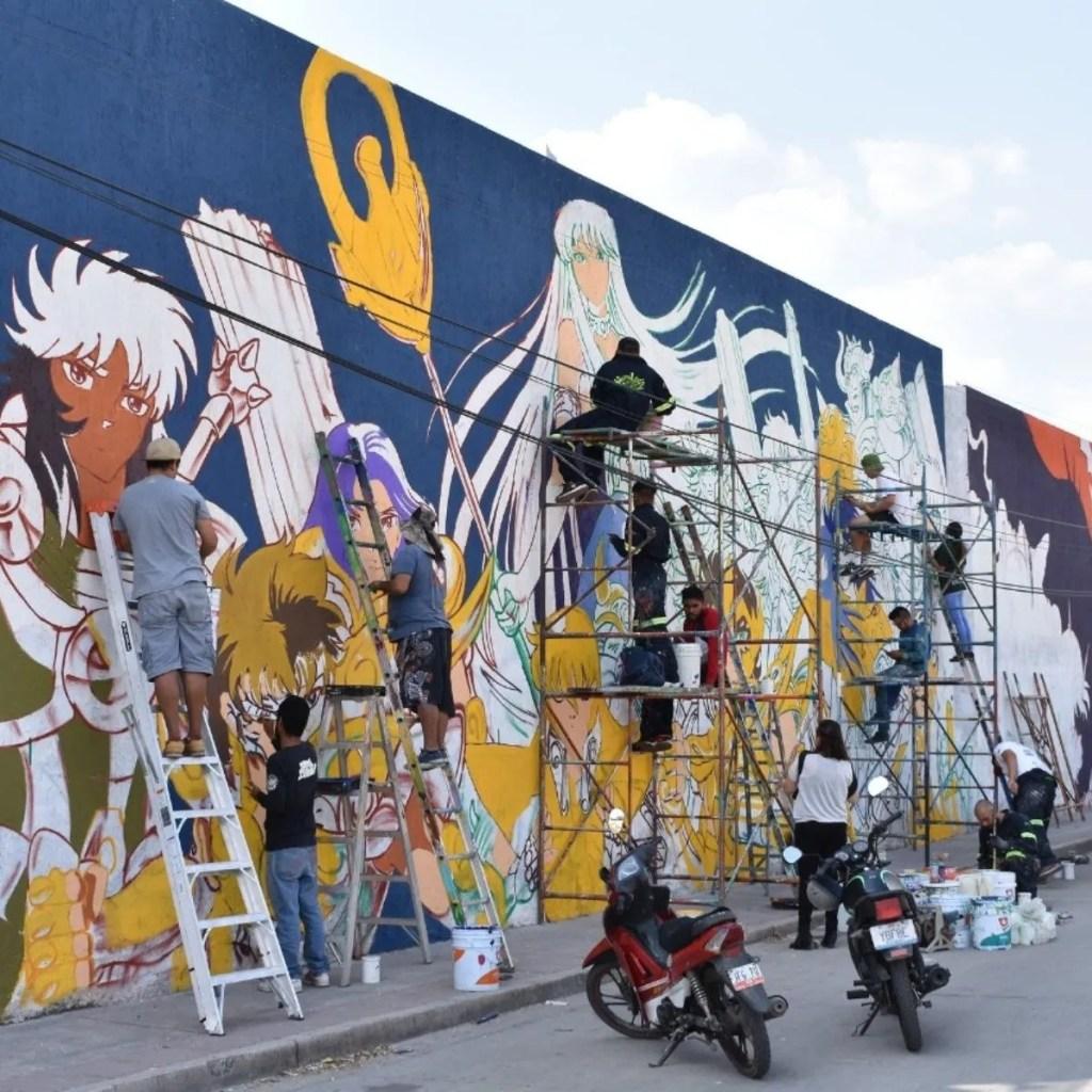 Mural De Los Caballeros Del Zodiaco Recorre El Mundo 1