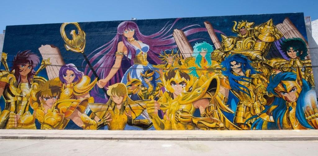 increíble Mural De 😍 Los Caballeros Del Zodiaco 👍Recorre El Mundo 2