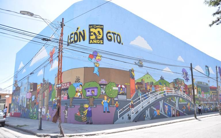 mural de los simpsons en mexico street art