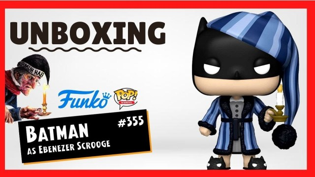 UNBOXING Funko Pop DC Holiday BATMAN collection as Ebenezer Scrooge 🦇🕯