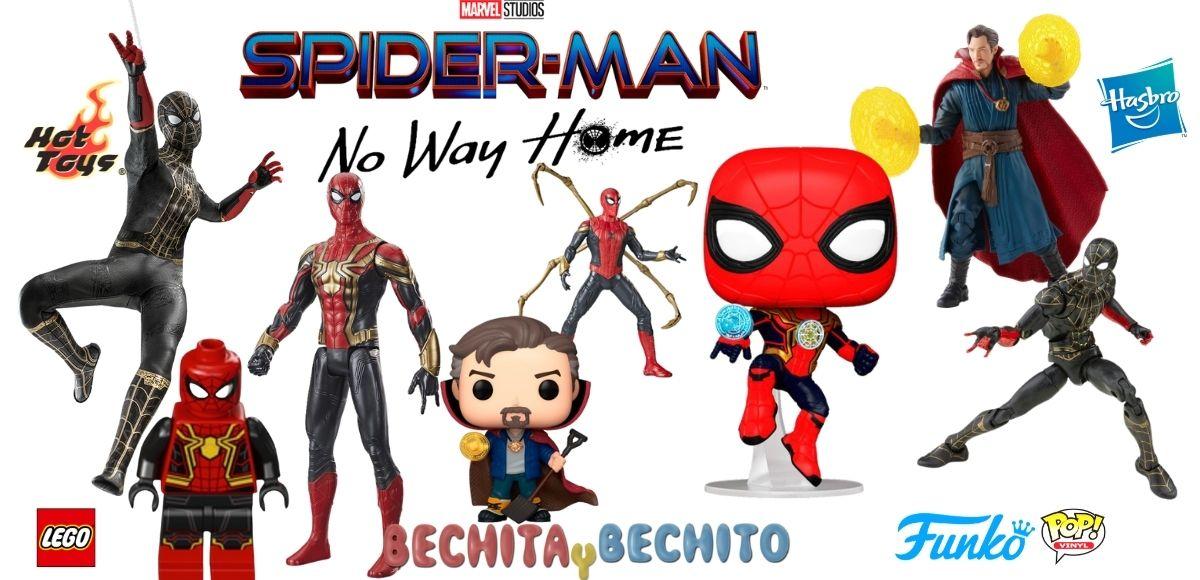 spider man no way home las figuras y funkos