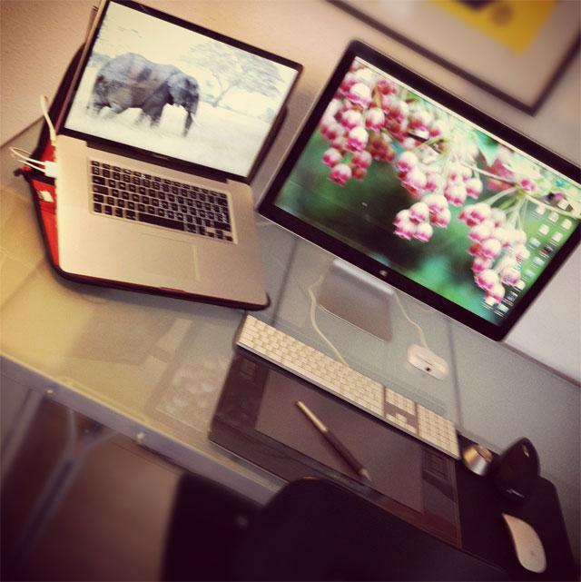 Mit skrivebord