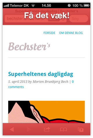 Browser rammen på iOS