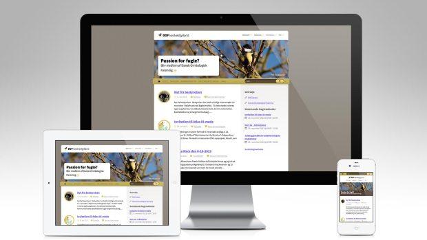 DOF Nordvestjylland på desktop, mobil og tablet