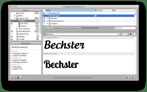 Linotype FontExplorer til mac