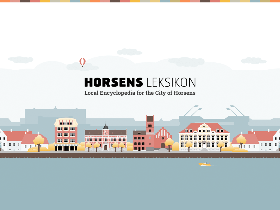 Illustration med logo for Horsens Leksikon