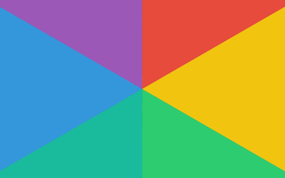 Farvehjul med primære og sekundære farver.