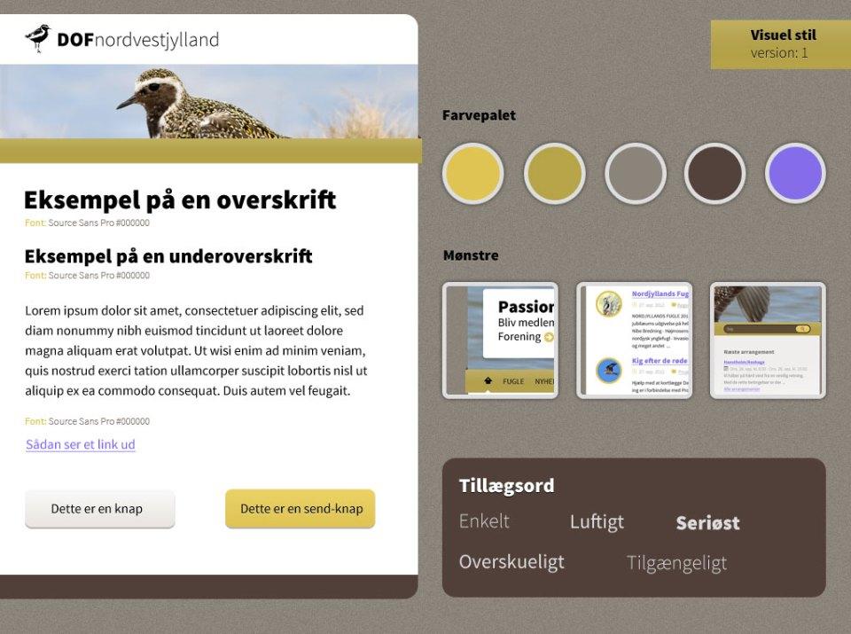 Style tile til DOF Nordvestjylland