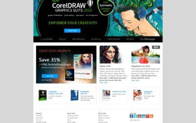 Screenshot af Corel.com