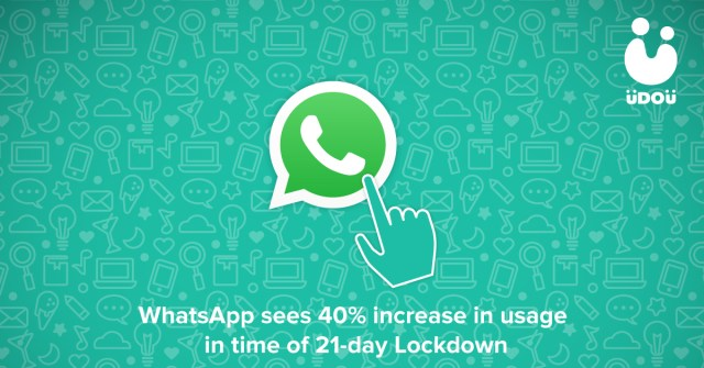 WhatsApp Sees 40% Increase in Usage in Time of 21-day Lockdown