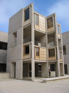 One of the 29 separate structures at the Salk Institute