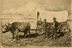 old time photo of pioneer life in Kansas