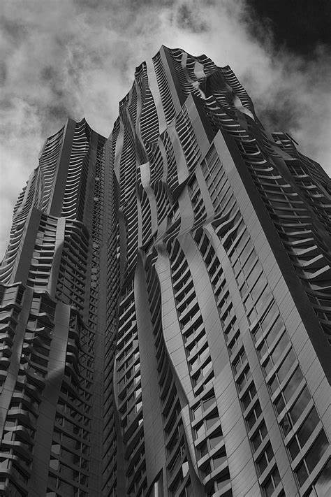 """""""wiggly wobbly"""" exterior of 8 Spruce Street building in New York"""