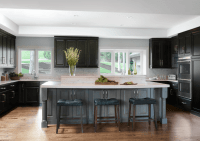 Traditional Kitchen with Black Cabinetry - Beck/Allen ...