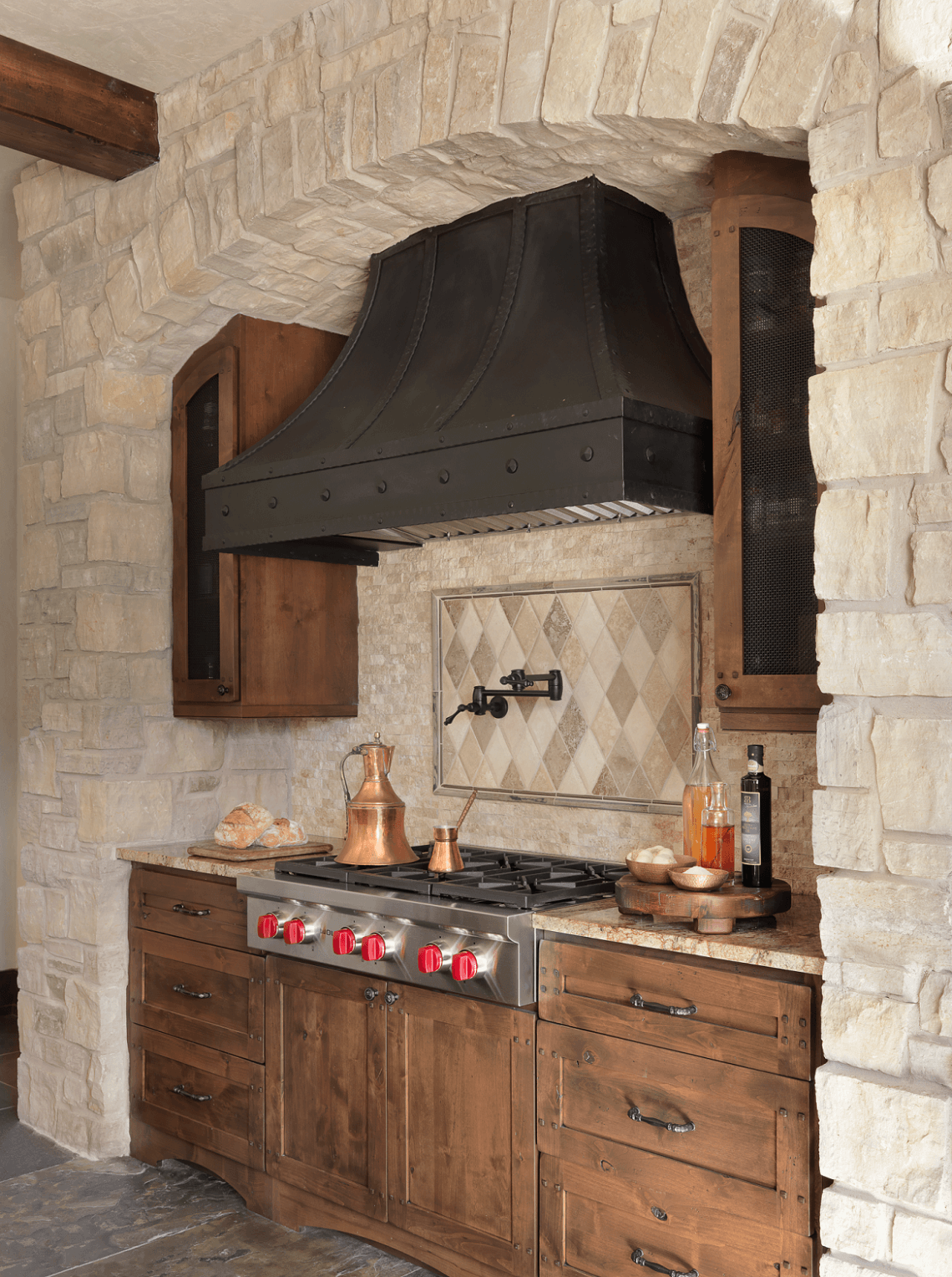 Rustic Kitchen  Custom Range Hood  BeckAllen Cabinetry