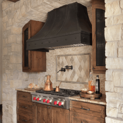 Hood Kitchen Pantry Cabinets Rustic + Custom Range - Beck/allen Cabinetry