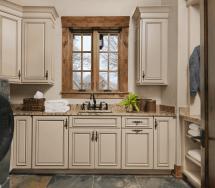 Rustic Laundry Room Design - Beck Allen Cabinetry