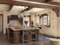 Old World-Inspired Kitchen with Distressed Cabinets - Beck ...
