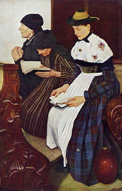Wilhelm Leibl_3 women in church