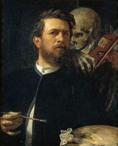 Arnold Bocklin - Self-Portrait with Death the Fiddler.