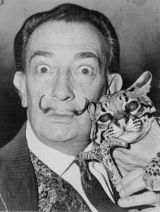 Salvador Dali, photographed by Richard Higgins (1965).