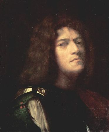 A possible self-portrait of Giorgione, portrayed as David (1510).