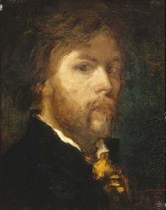 Self-Portrait of Gustave Moreau (1850).